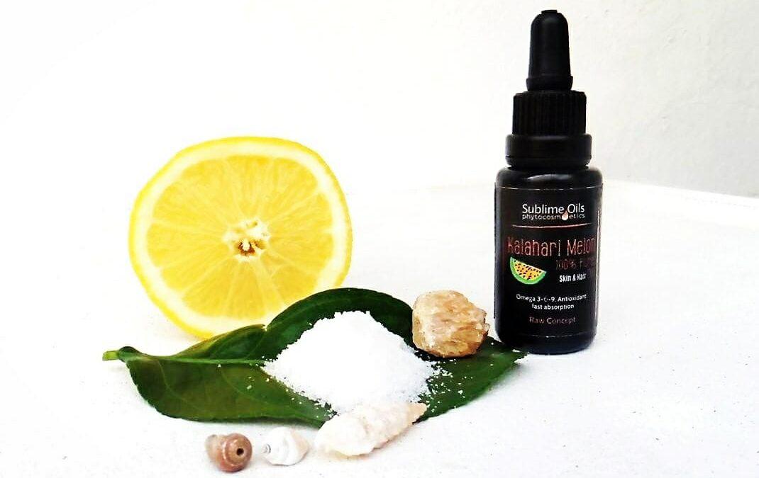DIY: Exfoliante facial con sal y limón…y melón del kalahari!!